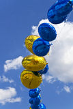 Balloons the blue sky Royalty Free Stock Photos