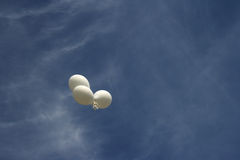 Balloons and blue sky Royalty Free Stock Image