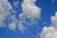 Balloons and blue sky Royalty Free Stock Photos