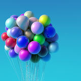 Balloons at Blue Sky. Background Royalty Free Stock Image
