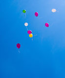 Balloons on the blue sky Stock Photos