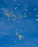 Balloons in a Blue Sky Royalty Free Stock Image