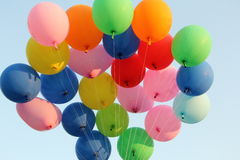 Balloons on blue sky Royalty Free Stock Images