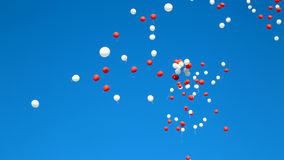Balloons. In the blue sky flying away royalty free stock photo