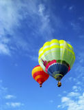 Balloons in blue sky Royalty Free Stock Photos