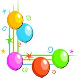 Balloons Border Royalty Free Stock Photography