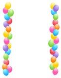 Balloons border / frame Stock Image