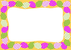 Balloons border frame invitation Royalty Free Stock Images