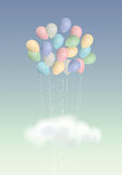 Balloons bouquet Royalty Free Stock Photography