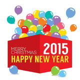 Balloons In The Box 2015 New Year Royalty Free Stock Photography