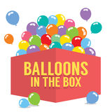 Balloons In The Box Stock Photo