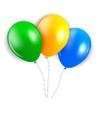 Balloons in Brazil Flag Colors, Vector Illustration Royalty Free Stock Image
