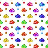 Balloons bunches, seamless Royalty Free Stock Photos