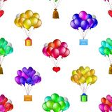Balloons bunches, seamless Royalty Free Stock Photography