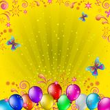 Balloons and butterflies Royalty Free Stock Photo