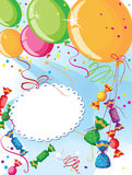 Balloons and candy. Illustration of a balloons and candy Royalty Free Stock Images