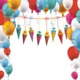 Balloons Candy Cones White Royalty Free Stock Photos