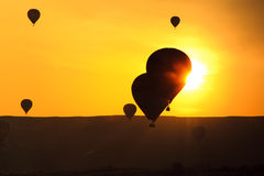 Balloons in Cappadocia at dawn sky Stock Image