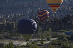 Balloons Cappadocia among the rocks. Stock Photo