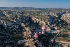 Balloons in Cappadocia Stock Photography