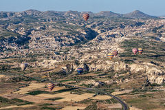 Balloons in Cappadocia Turkey Stock Image