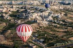 Balloons in Cappadocia Turkey Stock Image
