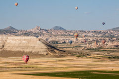 Balloons in Cappadocia Turkey Royalty Free Stock Images
