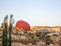 Balloons in Cappadocia Turkey royalty free stock photos