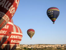 Balloons in Cappadocia Turkey Royalty Free Stock Photography