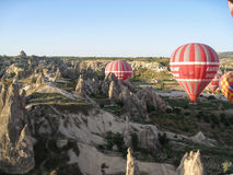 Balloons in Cappadocia Turkey Stock Photography