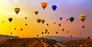 Balloons CappadociaTurkey. Royalty Free Stock Photos