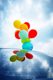 Balloons On Car Roof Royalty Free Stock Photo