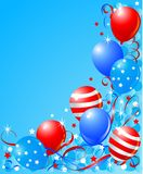 Balloons card for Fourth of July Stock Images