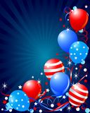Balloons card for Fourth of July Stock Image