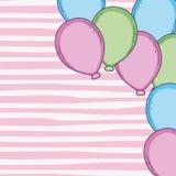 Balloons cartoons frame vector illustration