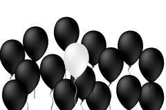Balloons celebrating black and white, Ballons concept, Vector, I. Llustration Stock Image