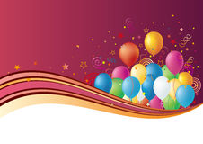 balloons and celebration stock illustration