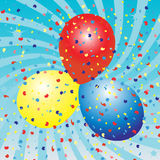 Balloons celebration Stock Photos
