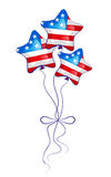 Balloons for celebration. With elements of the U.S. flag Royalty Free Stock Images