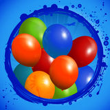 Balloons circle background Stock Images