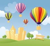 Balloons in the City Royalty Free Stock Photography