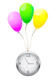 Balloons clock Royalty Free Stock Photo