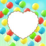 Balloons and cloud for congratulations Royalty Free Stock Photos