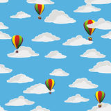 Balloons in the cloudy sky Royalty Free Stock Photo