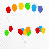 Balloons collection. Set of colorful balloons. Vector Stock Photo