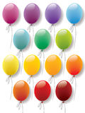 Balloons collection vector. Balloons colorful collection ready for designs and decorations Royalty Free Stock Photo