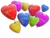 Balloons color heart Royalty Free Stock Image