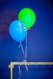 Balloons on a colored background Royalty Free Stock Image