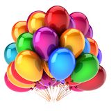 Balloons colorful, birthday party decoration multicolor beautiful. Carnival balloons colorful, birthday party decoration multicolor beautiful. helium balloon Stock Photo