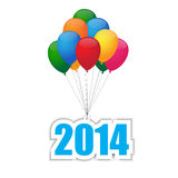 Balloons. Colorful balloons group for 2014 Stock Photos